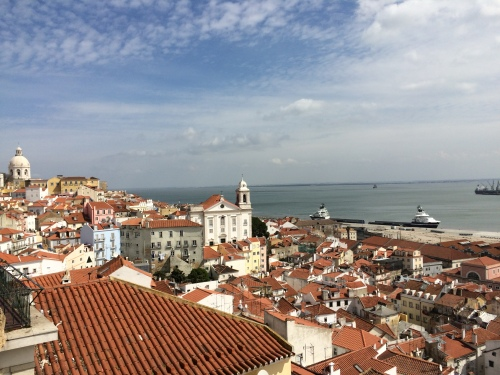 I stayed in Lisbon for a few days...