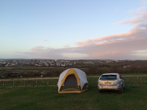 Our campsite was in Bude, famous hippie-surfer-Tori Amos town.